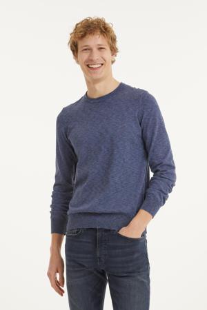 fijngebreide trui Kabiron  jeansblauw