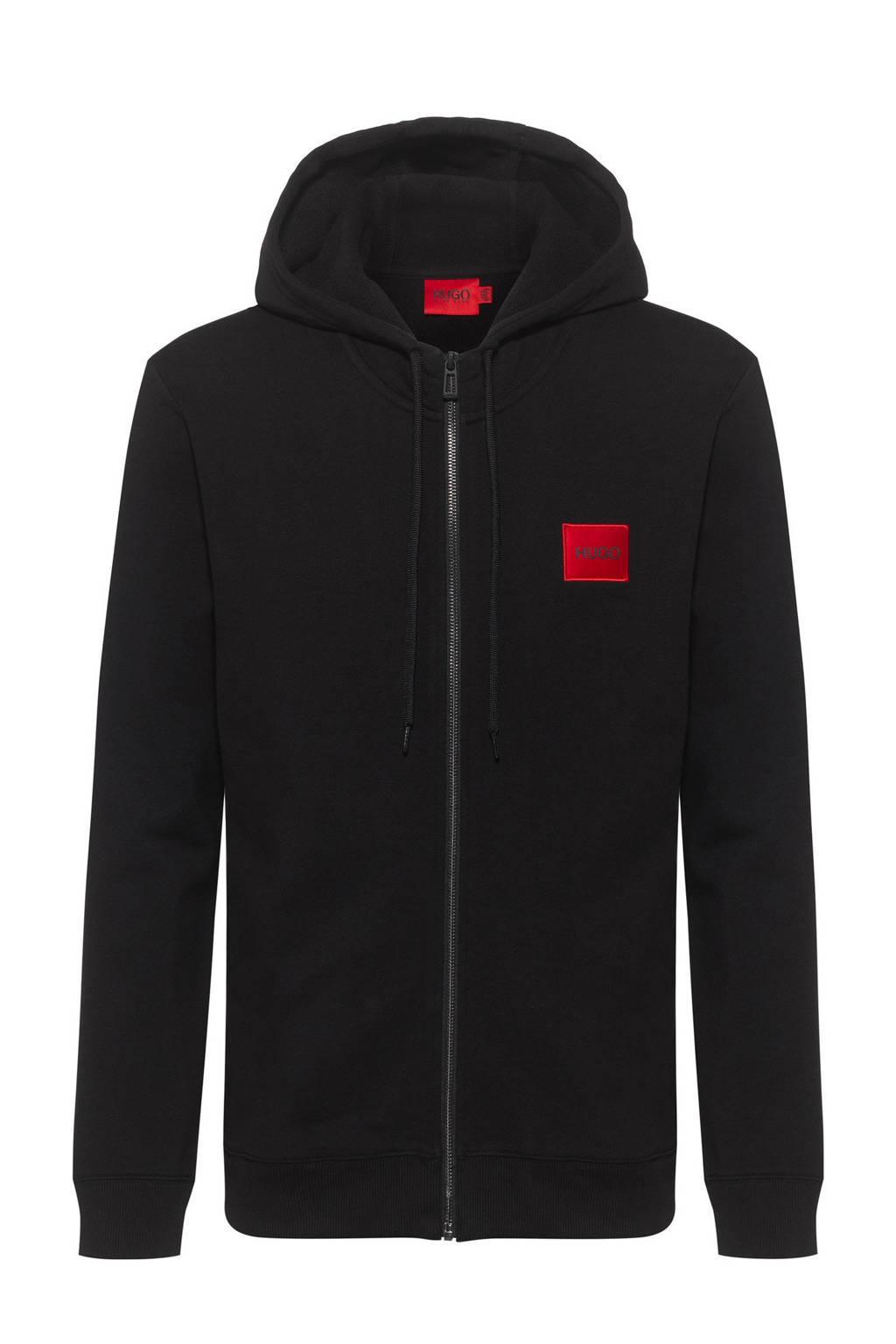 HUGO vest met logo zwart, Zwart