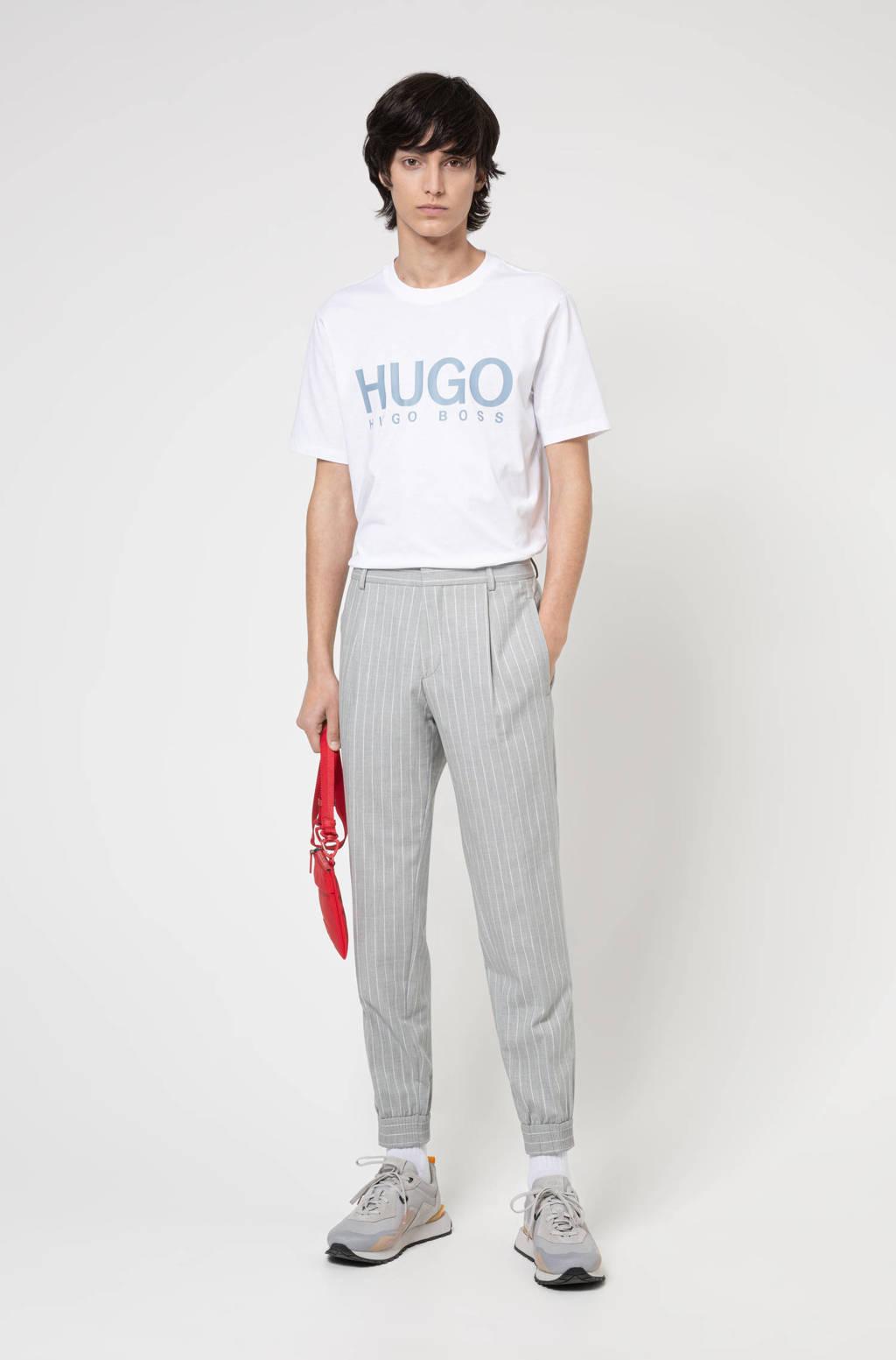 HUGO T-shirt Dolive212 met logo wit, Wit