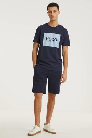 T-shirt Dolive met logo donkerblaauw/lichtblauw