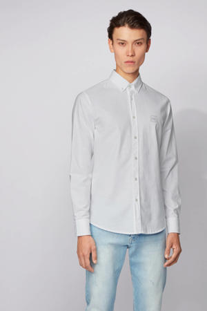 slim fit overhemd Mabsoot wit