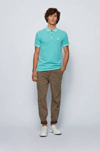 BOSS Casual slim fit polo turquoise, Turquoise