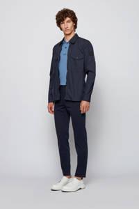 BOSS Casual regular fit polo met contrastbies blauw, Blauw