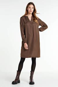 Cream jurk FengCR Dress donkerbruin, Donkerbruin