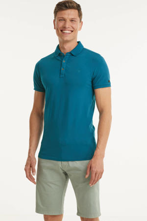 regular fit polo met logo petrol
