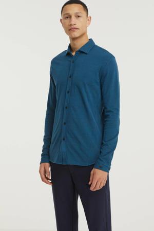 slim fit overhemd petrol
