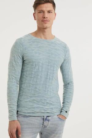 gemêleerde trui lichtblauw