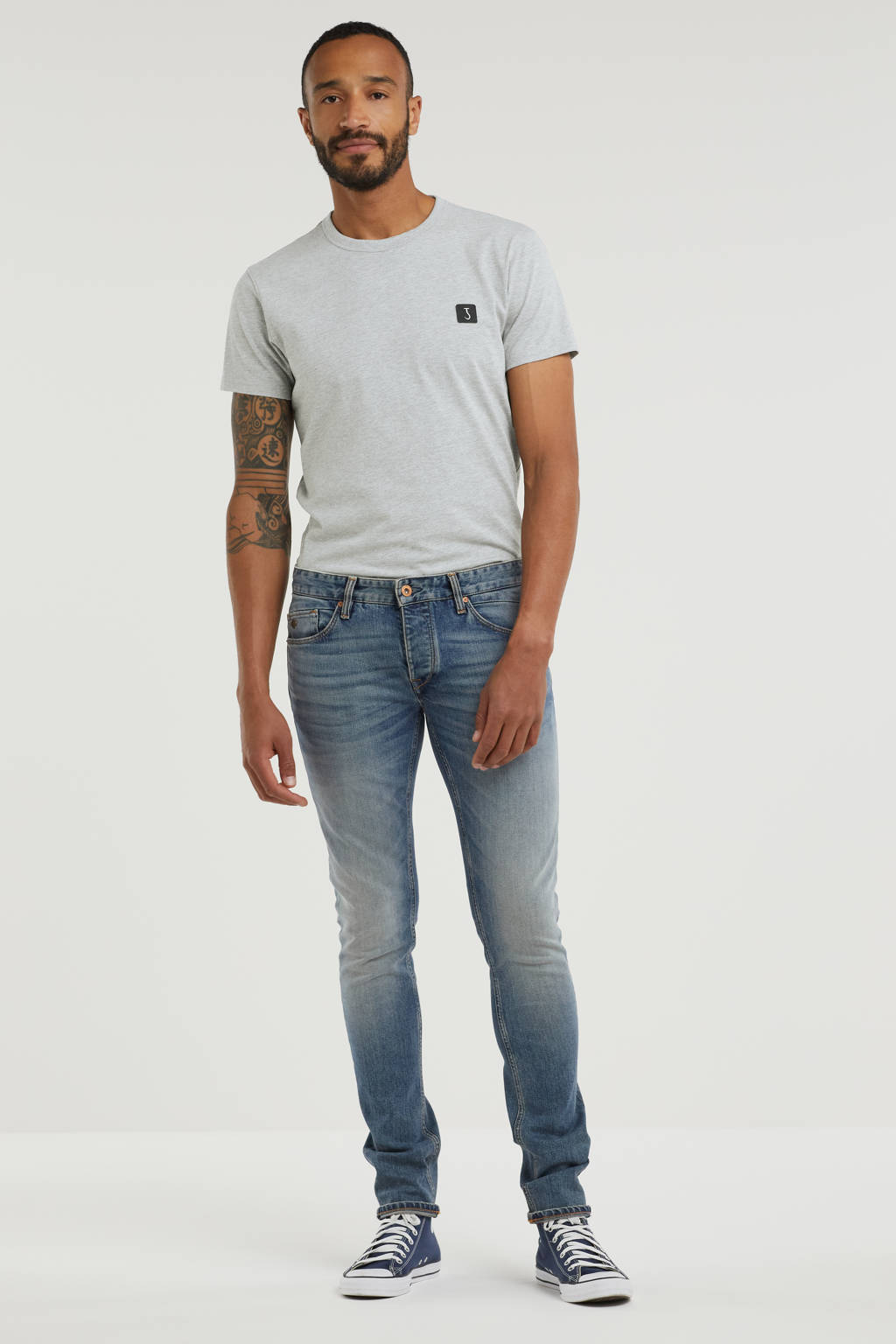 Cast Iron slim fit jeans Riser clear sky, Clear Sky
