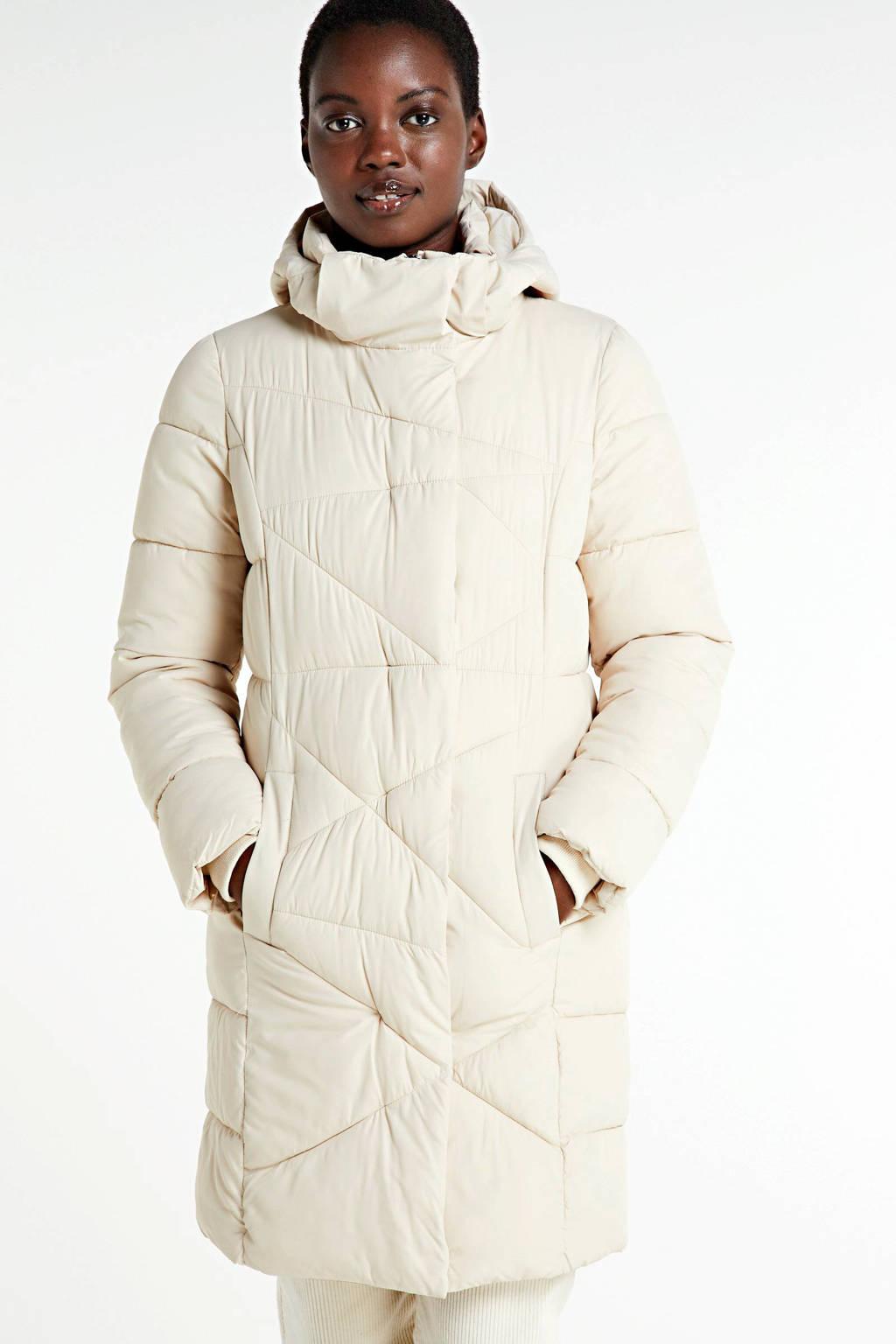 Peppercorn gewatteerde jas gebroken wit, Gebroken wit
