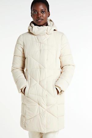 gewatteerde jas gebroken wit