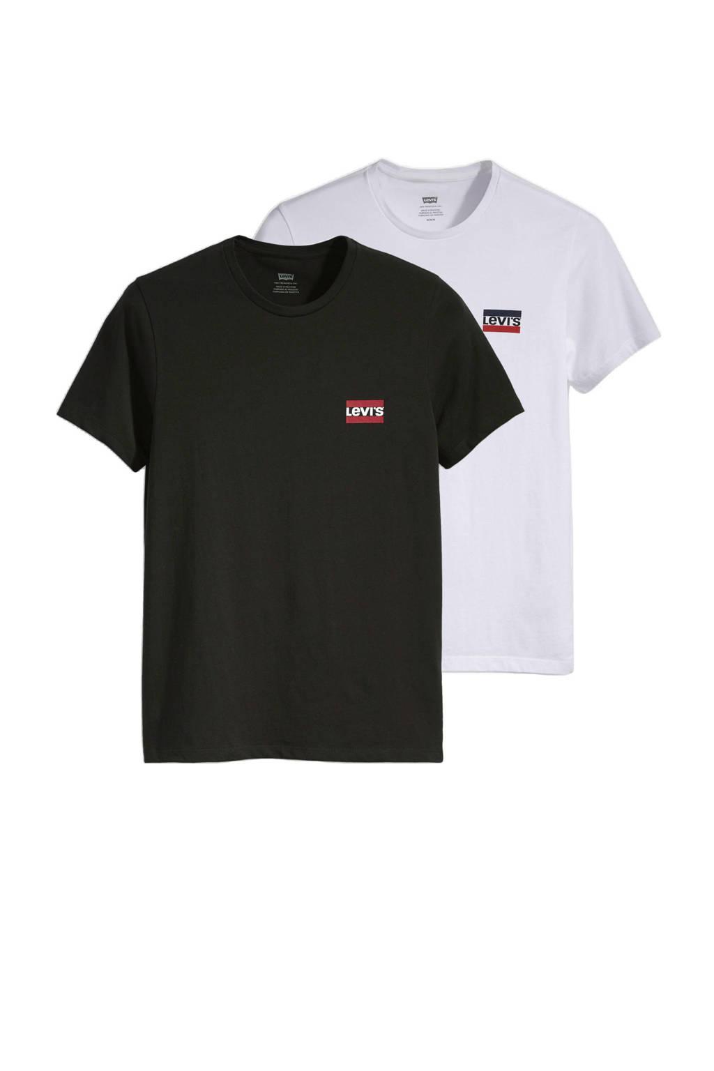 Levi's T-shirt - set van 2, Zwart/wit