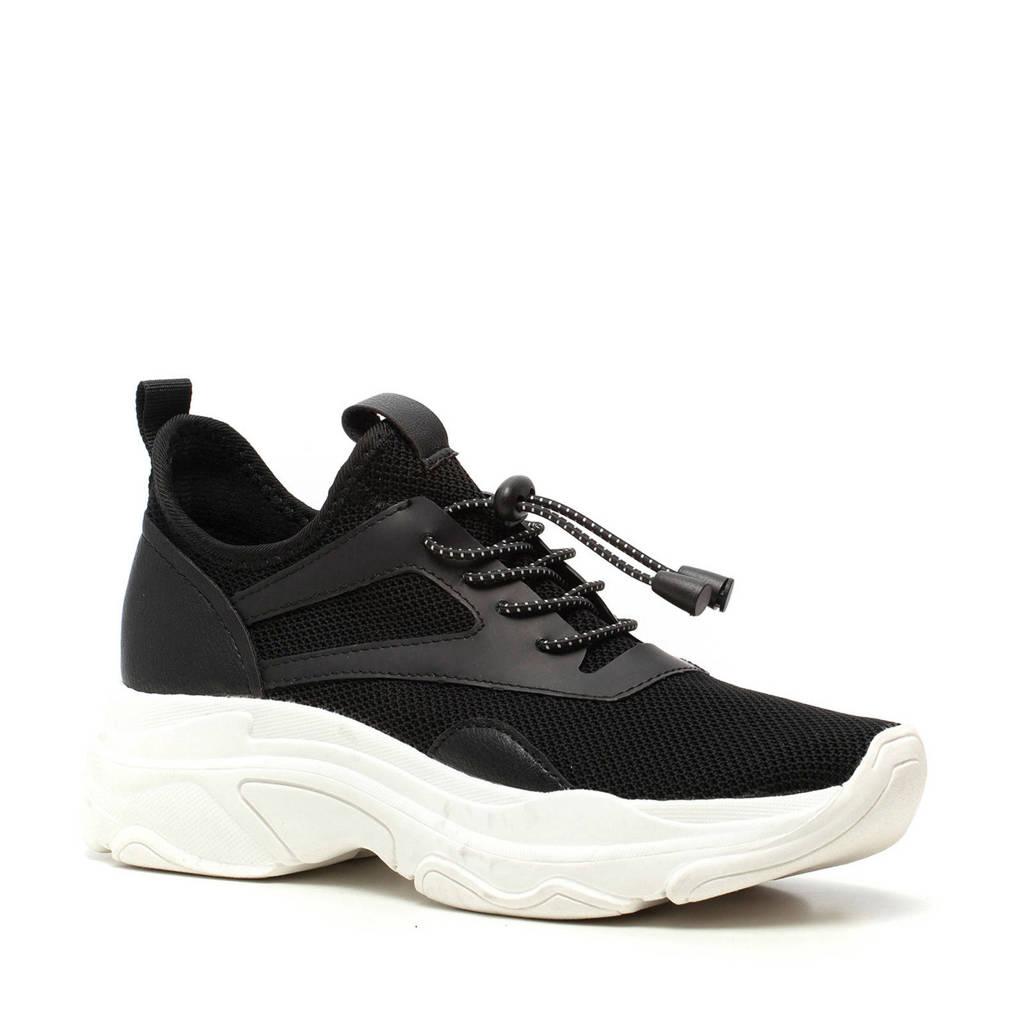 Madden Girl   chunky dad sneakers zwart, Zwart