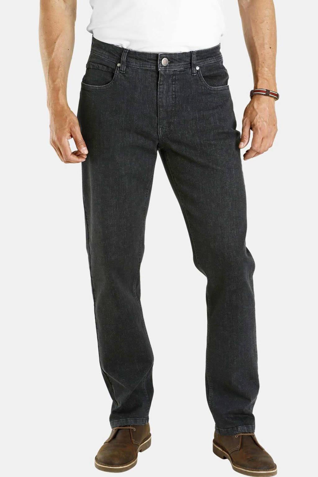 Jan Vanderstorm loose fit jeans Plus Size Almin zwart, Zwart