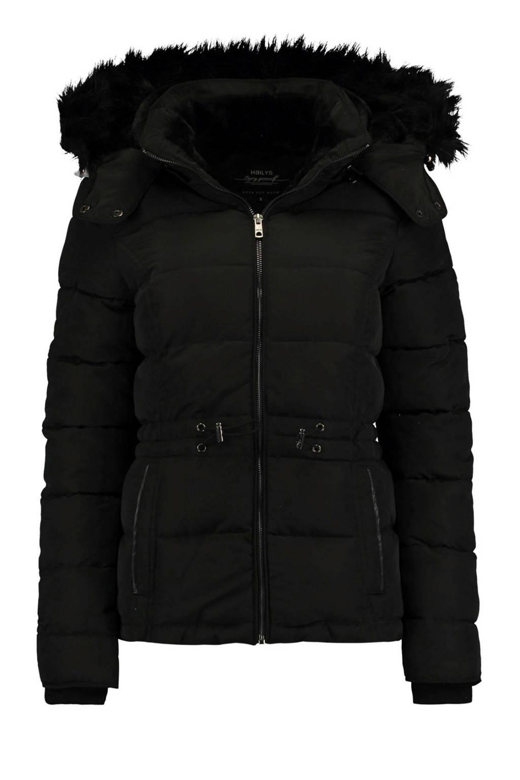 Hailys gewatteerde jas zwart, Zwart