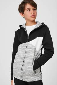 C&A vest zwart/grijsmelange/wit, Zwart/grijsmelange/wit