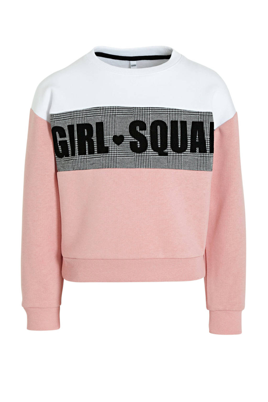 C&A Here & There sweater met tekst roze/wit, Roze/wit