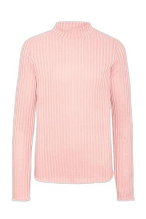 ribgebreide longsleeve roze