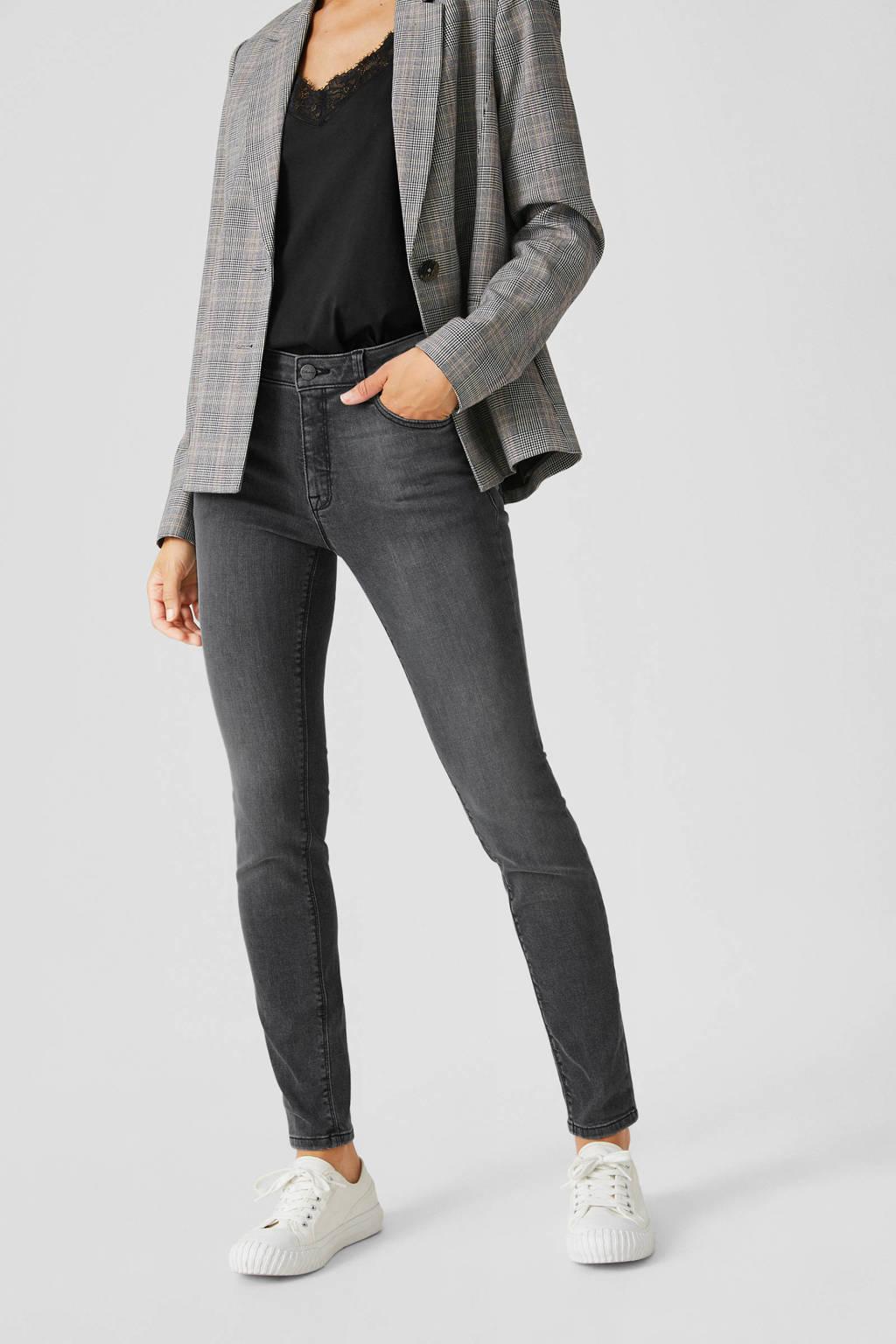 C&A The Denim skinny jeans met biologisch katoen antraciet, Antraciet