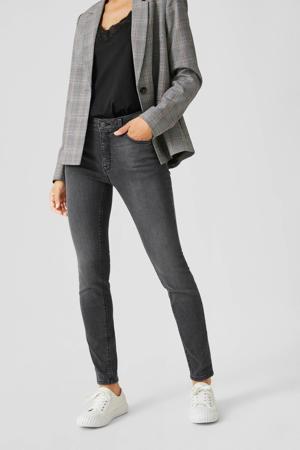 skinny jeans met biologisch katoen antraciet
