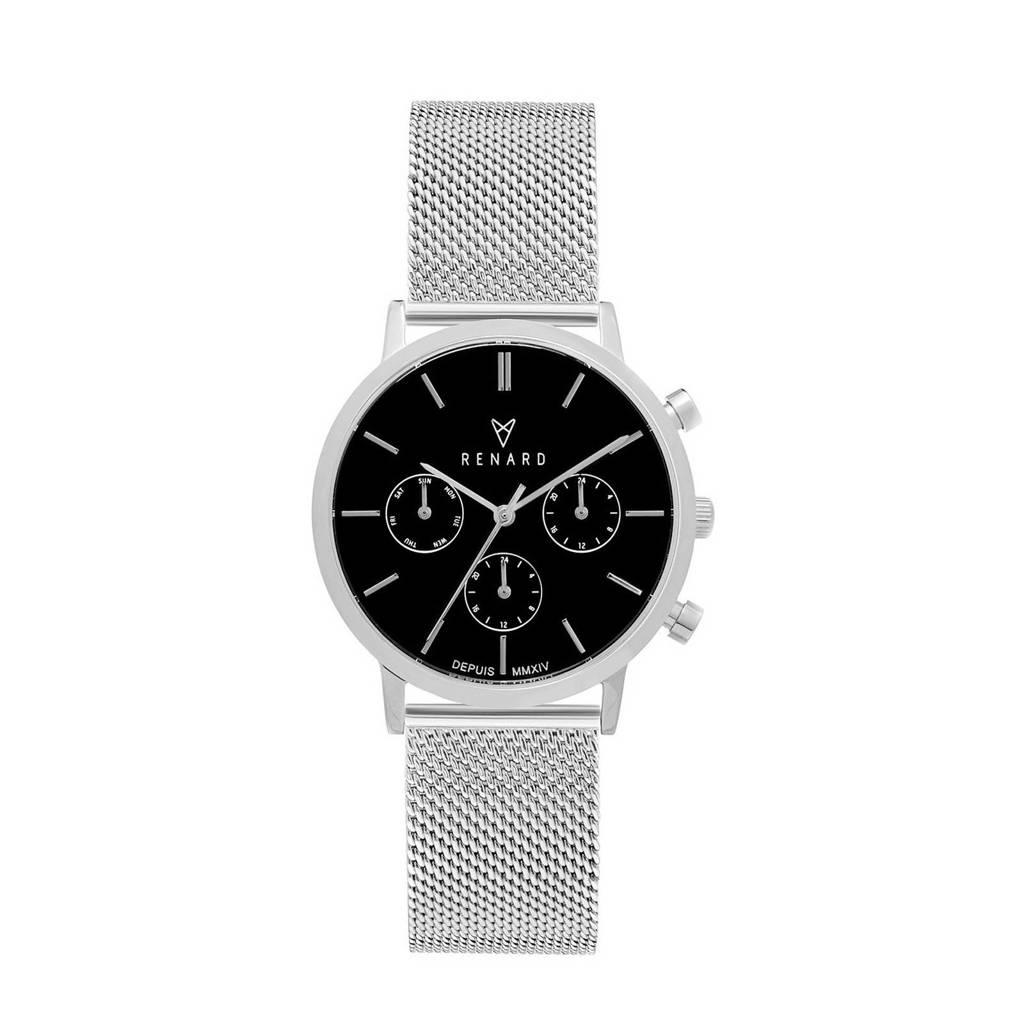 Renard Elite 35.5 Chronograaf horloge RB361SS30SS2 zilver/zwart, Zilverkleurig