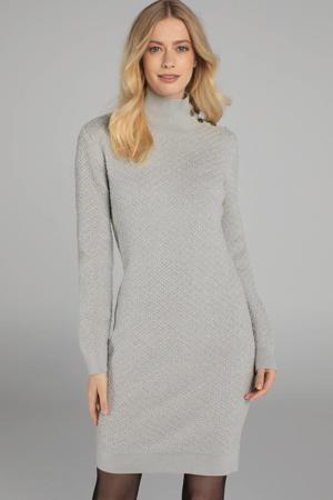 jurk met wol chalk