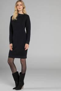 Claudia Sträter gebreide jurk met wol zwart, Zwart