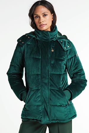 gewatteerde jas Jacket Karoline groen