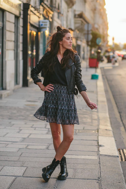 Circle of Trust Naomi van As gebloemde semi-transparante rok Lois zwart, Zwart