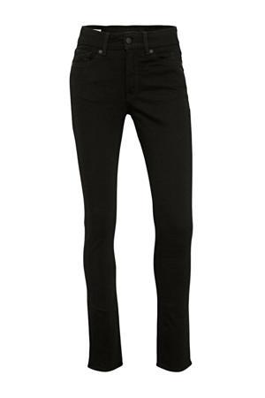 high waist slim fit jeans Juno met biologisch katoen 6118/stay black rinse