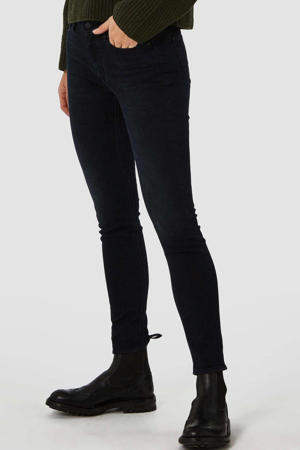 high waist slim fit jeans Juno met biologisch katoen blue black worn