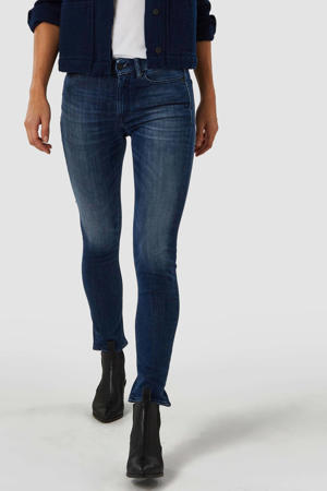high waist slim fit jeans Juno met biologisch katoen medium used