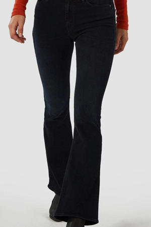high waist flared jeans Marie met biologisch katoen stay black
