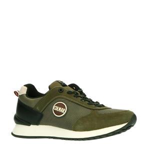 Travis Drill M suède sneakers groen