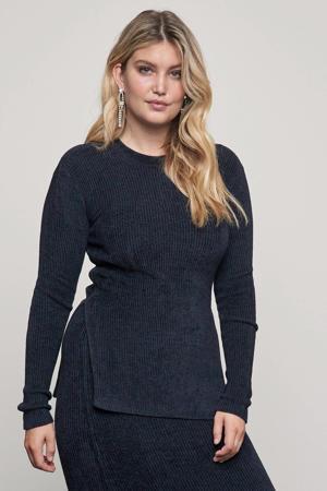 ribgebreide trui Drew zwart