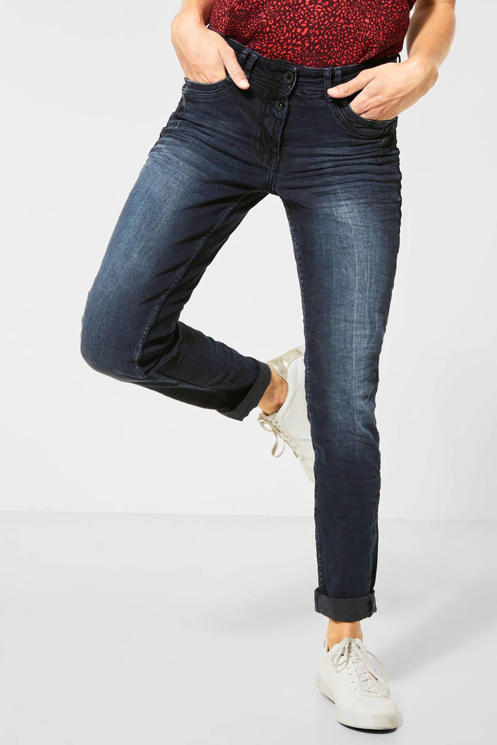CECIL skinny jeans Scarlett dark denim stonewashed, Dark denim stonewashed