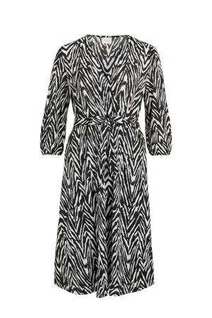jurk VILITIN met all over print zwart