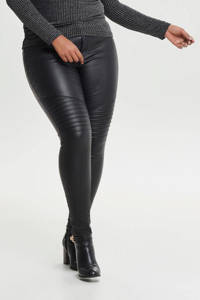 ONLY CARMAKOMA coated broek CARPUNK zwart, Zwart
