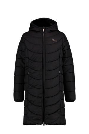 reversible gewatteerde imitatiebont winterjas Tendely zwart