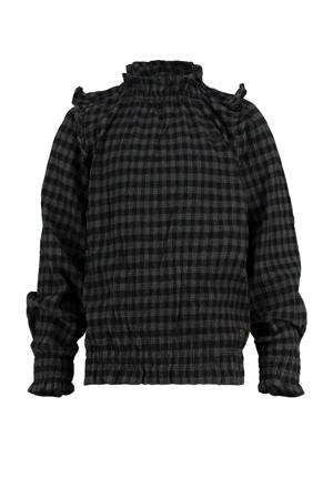 geruite top Luisa zwart/grijs