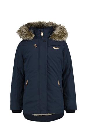 gewatteerde winterjas Teisha donkerblauw