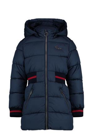 gewatteerde winterjas Tuzy donkerblauw