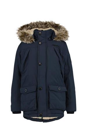 gewatteerde winterjas Thibaut donkerblauw