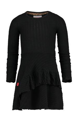 jurk Pedosa met borduursels zwart