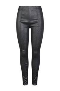 Y.A.S high waist slim fit broek zwart, Zwart