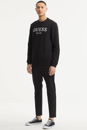 sweater Beau met logo zwart