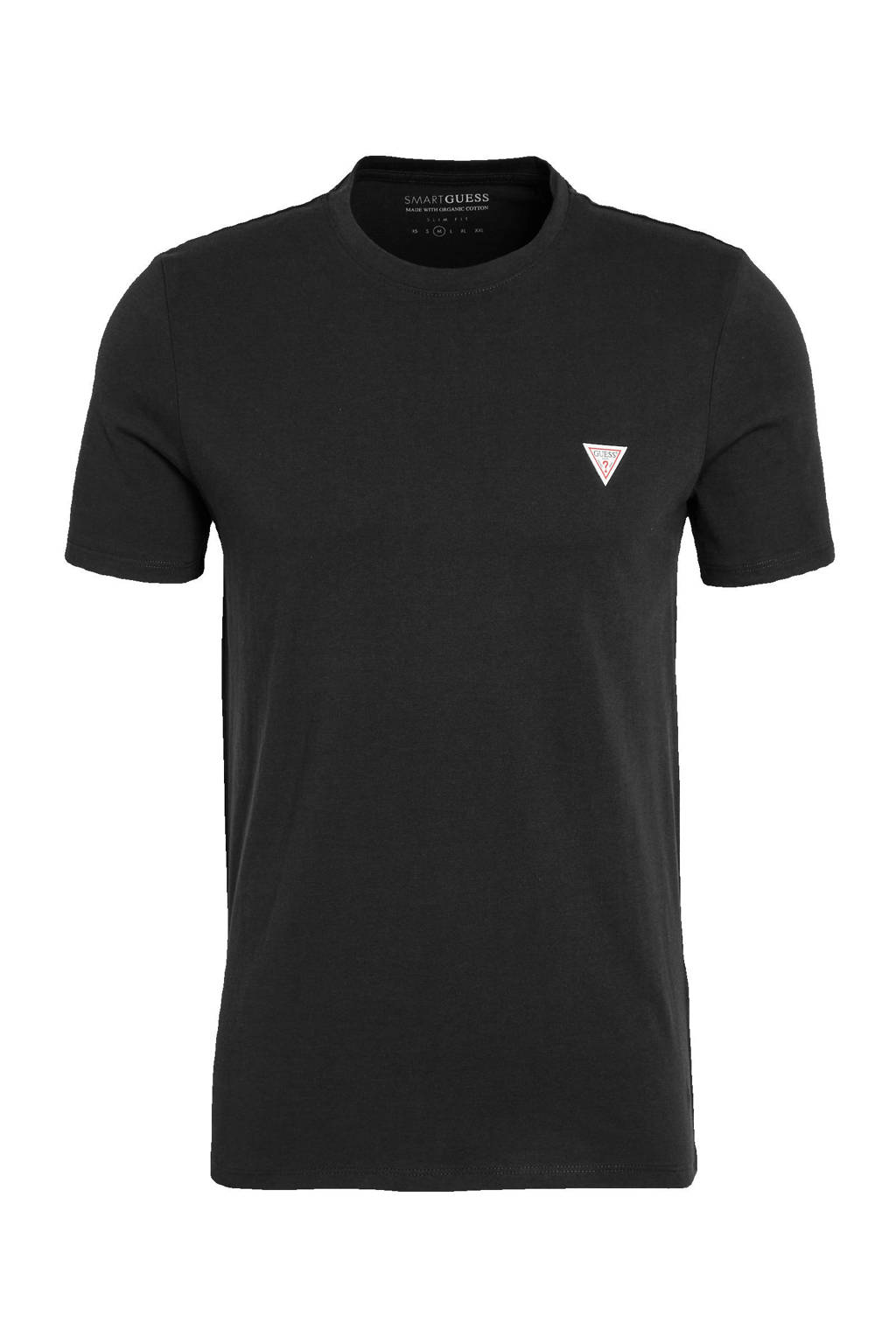 GUESS basic T-shirt zwart, Zwart