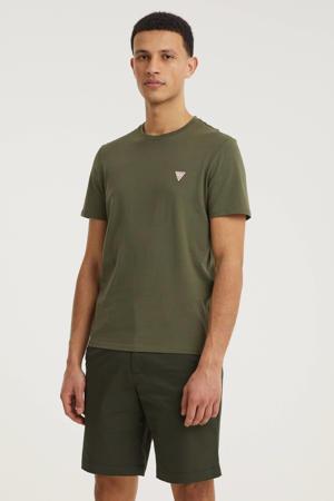 basic T-shirt olijfgroen