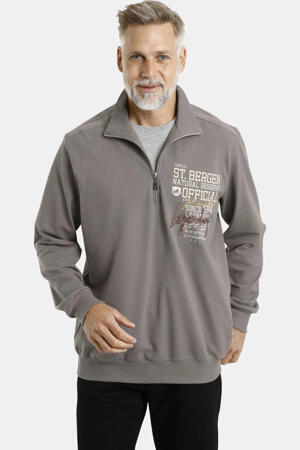 sweater Plus Size Folke met printopdruk grijs