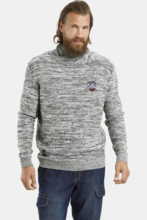 gemêleerde trui Plus Size Hardo grijs