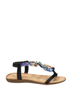 sandalen zwart/multi